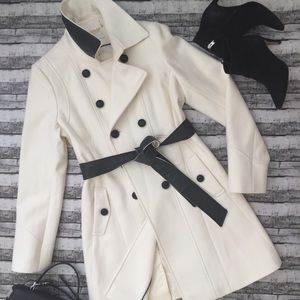 DKNY Wool Blend Belted Coat , Size: 10